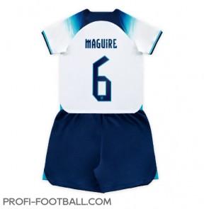 Englanti Harry Maguire #6 Koti Pelipaita Lasten EM-Kisat 2020 Lyhyet Hihat (+ Lyhyet housut)