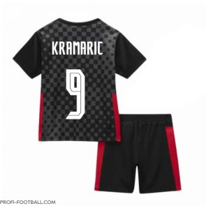 Kroatia Andrej Kramaric #9 Vieras Pelipaita Lasten EM-Kisat 2020 Lyhyet Hihat (+ Lyhyet housut)