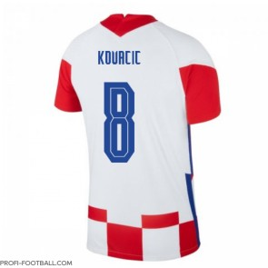 Kroatia Mateo Kovacic #8 Kotipaita EM-Kisat 2020 Lyhyet Hihat