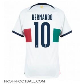 Portugali Bernardo Silva #10 Vieraspaita EM-Kisat 2020 Lyhyet Hihat