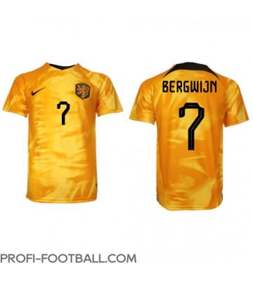 Alankomaat Steven Bergwijn #7 Kotipaita EM-Kisat 2020 Lyhyet Hihat