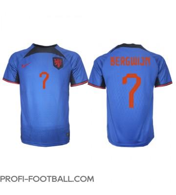 Alankomaat Steven Bergwijn #7 Vieraspaita EM-Kisat 2020 Lyhyet Hihat