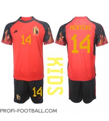 Belgia Dries Mertens #14 Koti Pelipaita Lasten EM-Kisat 2020 Lyhyet Hihat (+ Lyhyet housut)