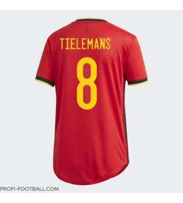 Belgia Youri Tielemans #8 Kotipaita Naisten EM-Kisat 2020 Lyhyet Hihat