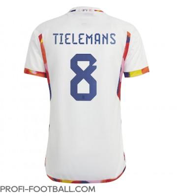 Belgia Youri Tielemans #8 Vieraspaita EM-Kisat 2020 Lyhyet Hihat