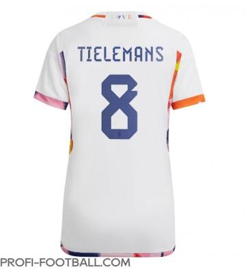 Belgia Youri Tielemans #8 Vieraspaita Naisten EM-Kisat 2020 Lyhyet Hihat