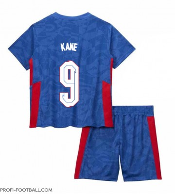 Englanti Harry Kane #9 Vieras Pelipaita Lasten EM-Kisat 2020 Lyhyet Hihat (+ Lyhyet housut)