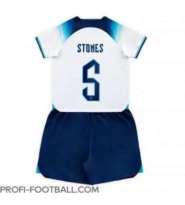Englanti John Stones #5 Koti Pelipaita Lasten EM-Kisat 2020 Lyhyet Hihat (+ Lyhyet housut)
