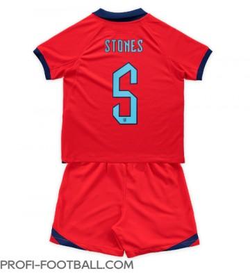 Englanti John Stones #5 Vieras Pelipaita Lasten EM-Kisat 2020 Lyhyet Hihat (+ Lyhyet housut)