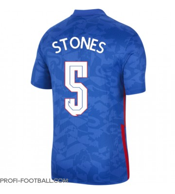 Englanti John Stones #5 Vieraspaita EM-Kisat 2020 Lyhyet Hihat