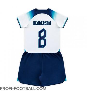 Englanti Jordan Henderson #8 Koti Pelipaita Lasten EM-Kisat 2020 Lyhyet Hihat (+ Lyhyet housut)