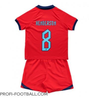Englanti Jordan Henderson #8 Vieras Pelipaita Lasten EM-Kisat 2020 Lyhyet Hihat (+ Lyhyet housut)