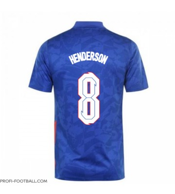Englanti Jordan Henderson #8 Vieraspaita EM-Kisat 2020 Lyhyet Hihat