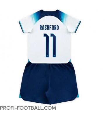 Englanti Marcus Rashford #11 Koti Pelipaita Lasten EM-Kisat 2020 Lyhyet Hihat (+ Lyhyet housut)