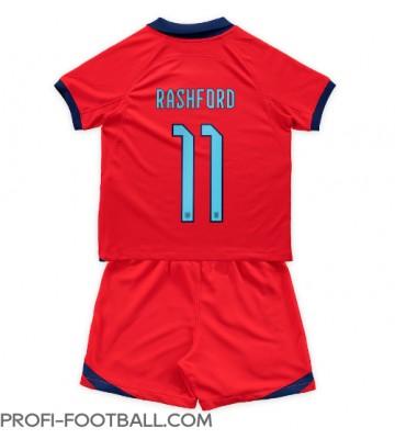 Englanti Marcus Rashford #11 Vieras Pelipaita Lasten EM-Kisat 2020 Lyhyet Hihat (+ Lyhyet housut)