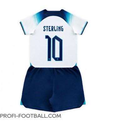 Englanti Raheem Sterling #10 Koti Pelipaita Lasten EM-Kisat 2020 Lyhyet Hihat (+ Lyhyet housut)
