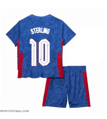 Englanti Raheem Sterling #10 Vieras Pelipaita Lasten EM-Kisat 2020 Lyhyet Hihat (+ Lyhyet housut)