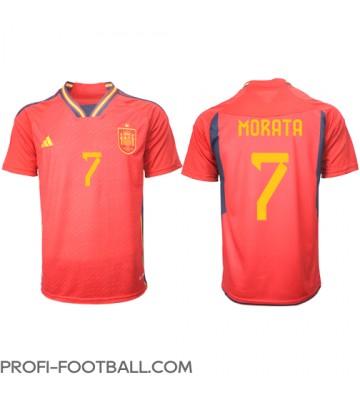 Espanja Alvaro Morata #7 Kotipaita EM-Kisat 2020 Lyhyet Hihat
