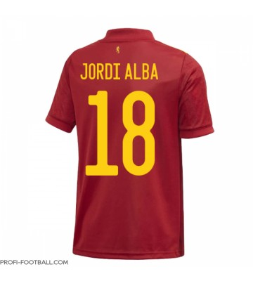 Espanja Jordi Alba #18 Kotipaita EM-Kisat 2020 Lyhyet Hihat