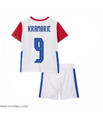 Kroatia Andrej Kramaric #9 Koti Pelipaita Lasten EM-Kisat 2020 Lyhyet Hihat (+ Lyhyet housut)