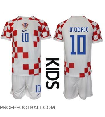Kroatia Luka Modric #10 Koti Pelipaita Lasten EM-Kisat 2020 Lyhyet Hihat (+ Lyhyet housut)