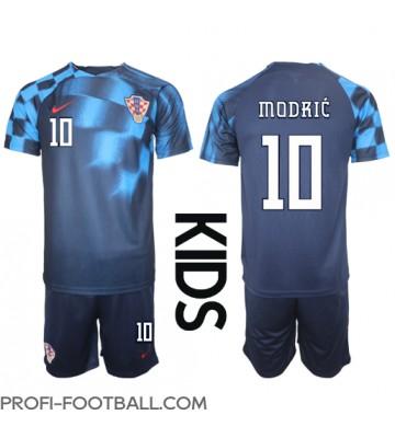 Kroatia Luka Modric #10 Vieras Pelipaita Lasten EM-Kisat 2020 Lyhyet Hihat (+ Lyhyet housut)