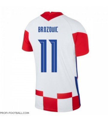 Kroatia Marcelo Brozovic #11 Kotipaita EM-Kisat 2020 Lyhyet Hihat
