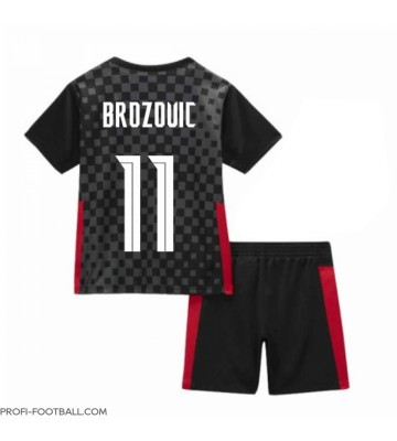 Kroatia Marcelo Brozovic #11 Vieras Pelipaita Lasten EM-Kisat 2020 Lyhyet Hihat (+ Lyhyet housut)