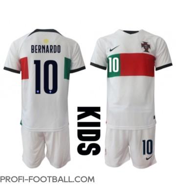 Portugali Bernardo Silva #10 Vieras Pelipaita Lasten EM-Kisat 2020 Lyhyet Hihat (+ Lyhyet housut)