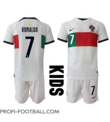 Portugali Cristiano Ronaldo #7 Vieras Pelipaita Lasten EM-Kisat 2020 Lyhyet Hihat (+ Lyhyet housut)