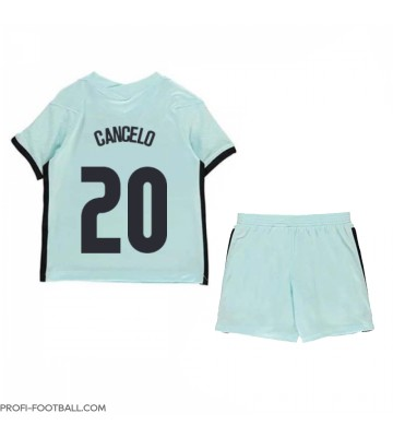 Portugali Joao Cancelo #20 Vieras Pelipaita Lasten EM-Kisat 2020 Lyhyet Hihat (+ Lyhyet housut)