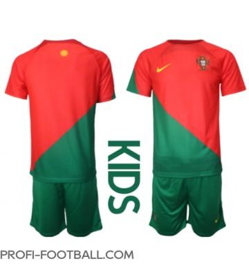 Portugali Koti Pelipaita Lasten EM-Kisat 2020 Lyhyet Hihat (+ Lyhyet housut)