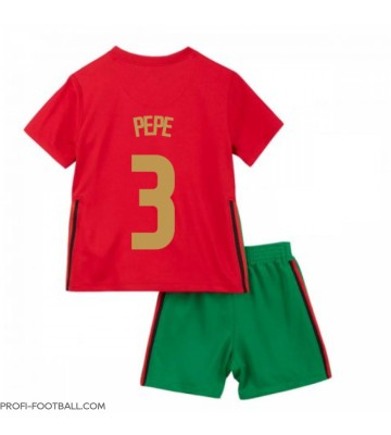 Portugali Pepe #3 Koti Pelipaita Lasten EM-Kisat 2020 Lyhyet Hihat (+ Lyhyet housut)