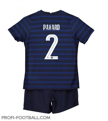 Ranska Benjamin Pavard #2 Koti Pelipaita Lasten EM-Kisat 2020 Lyhyet Hihat (+ Lyhyet housut)