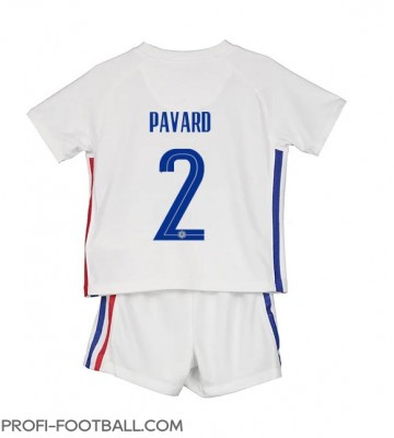 Ranska Benjamin Pavard #2 Vieras Pelipaita Lasten EM-Kisat 2020 Lyhyet Hihat (+ Lyhyet housut)