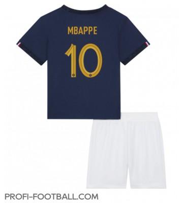 Ranska Kylian Mbappe #10 Koti Pelipaita Lasten EM-Kisat 2020 Lyhyet Hihat (+ Lyhyet housut)