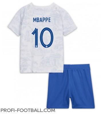 Ranska Kylian Mbappe #10 Vieras Pelipaita Lasten EM-Kisat 2020 Lyhyet Hihat (+ Lyhyet housut)