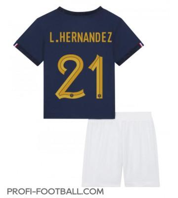 Ranska Lucas Hernandez #21 Koti Pelipaita Lasten EM-Kisat 2020 Lyhyet Hihat (+ Lyhyet housut)