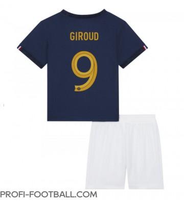 Ranska Olivier Giroud #9 Koti Pelipaita Lasten EM-Kisat 2020 Lyhyet Hihat (+ Lyhyet housut)