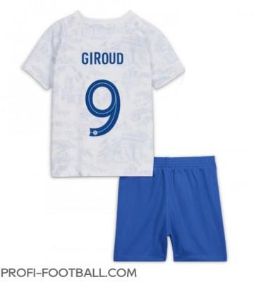 Ranska Olivier Giroud #9 Vieras Pelipaita Lasten EM-Kisat 2020 Lyhyet Hihat (+ Lyhyet housut)