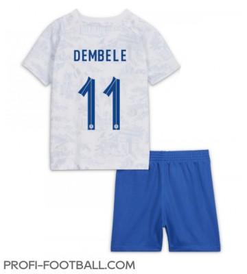 Ranska Ousmane Dembele #11 Vieras Pelipaita Lasten EM-Kisat 2020 Lyhyet Hihat (+ Lyhyet housut)