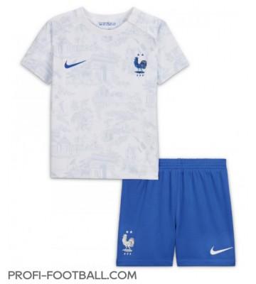 Ranska Vieras Pelipaita Lasten EM-Kisat 2020 Lyhyet Hihat (+ Lyhyet housut)