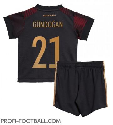 Saksa Ilkay Gundogan #21 Vieras Pelipaita Lasten EM-Kisat 2020 Lyhyet Hihat (+ Lyhyet housut)
