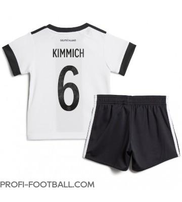 Saksa Joshua Kimmich #6 Koti Pelipaita Lasten EM-Kisat 2020 Lyhyet Hihat (+ Lyhyet housut)