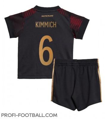 Saksa Joshua Kimmich #6 Vieras Pelipaita Lasten EM-Kisat 2020 Lyhyet Hihat (+ Lyhyet housut)