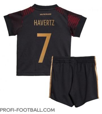 Saksa Kai Havertz #7 Vieras Pelipaita Lasten EM-Kisat 2020 Lyhyet Hihat (+ Lyhyet housut)