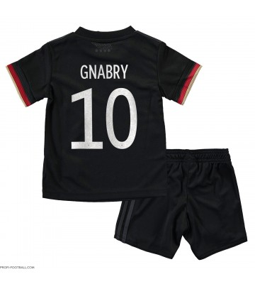 Saksa Serge Gnabry #10 Vieras Pelipaita Lasten EM-Kisat 2020 Lyhyet Hihat (+ Lyhyet housut)