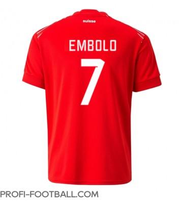 Sveitsi Breel Embolo #7 Kotipaita EM-Kisat 2020 Lyhyet Hihat