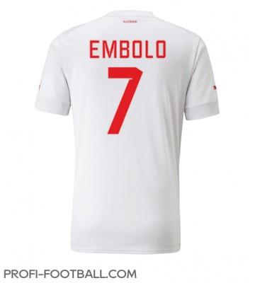 Sveitsi Breel Embolo #7 Vieraspaita EM-Kisat 2020 Lyhyet Hihat