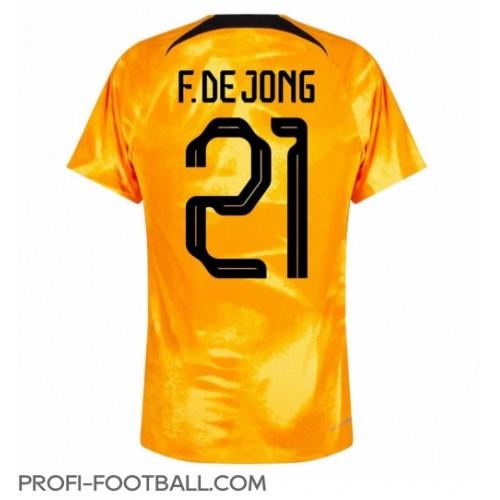 Alankomaat Frenkie de Jong #21 Kotipaita EM-Kisat 2020 Lyhyet Hihat